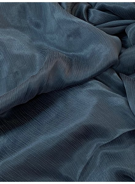 Ipeker - Vegan Textile cupro viscose - beautiful structure - petrol