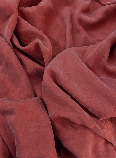 Ipeker - Vegan Textile cupro cotton - soft as silk - coral