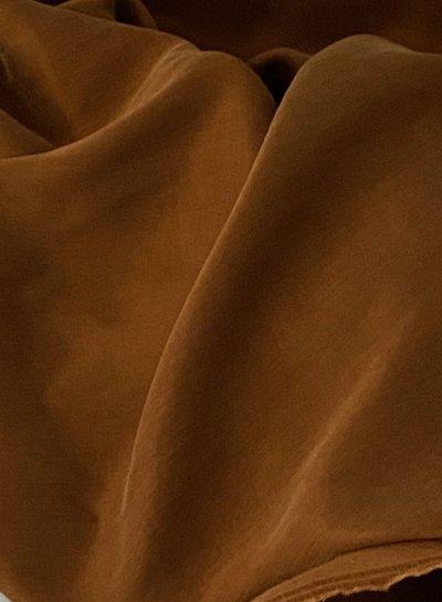 Ipeker - Vegan Textile cupro cotton - soft as silk - brandy