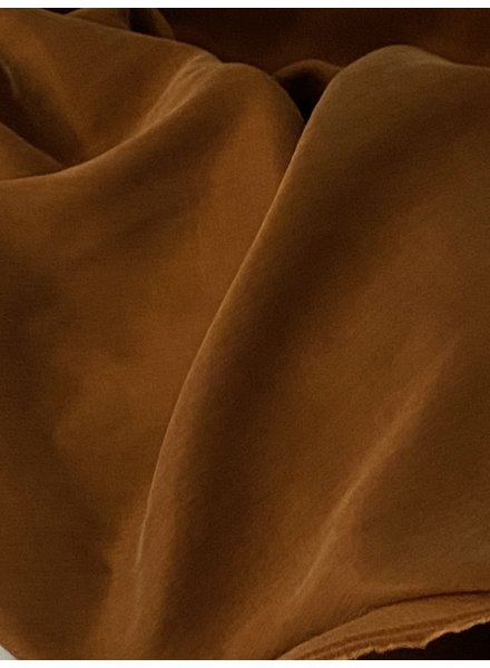 Ipeker - Vegan Textile cupro cotton - soft as silk - brandy