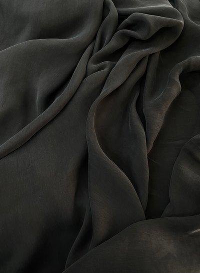 Ipeker - Vegan Textile caramel zwart - cupro