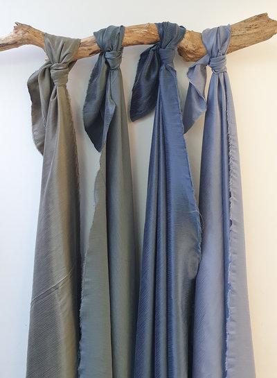 Ipeker - Vegan Textile cupro viscose - beautiful structure -dark khaki