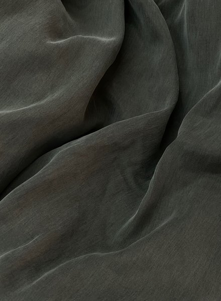 Ipeker - Vegan Textile cupro katoen blend - zijdezachte touch - khaki