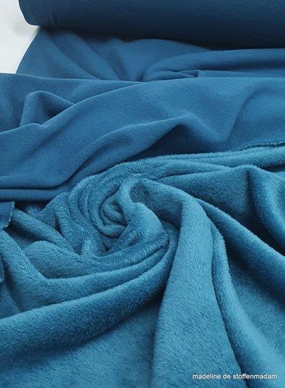 petrol blue  - happy fleece