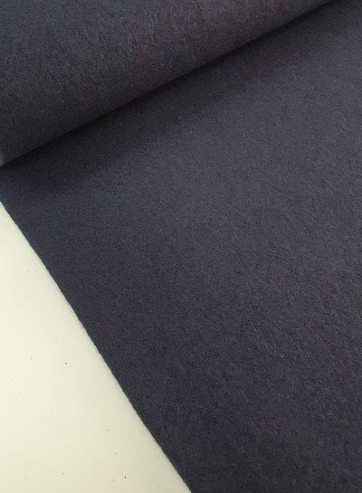 navy blue - boiled wool - bouclé