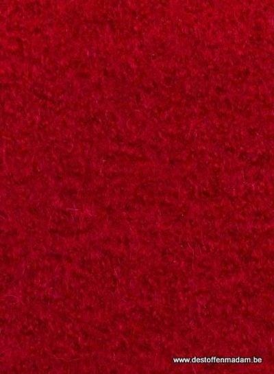 gekookte wol - wolvilt - boucle rood