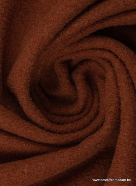 boiled wool - bouclé - rust