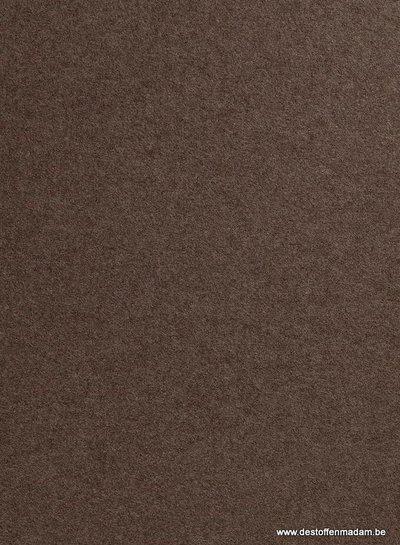 boiled wool - bouclé - brown