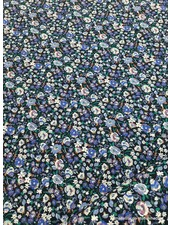 kleine bloemetjes kobalt- viscose
