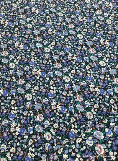 small flowers cobalt - viscose