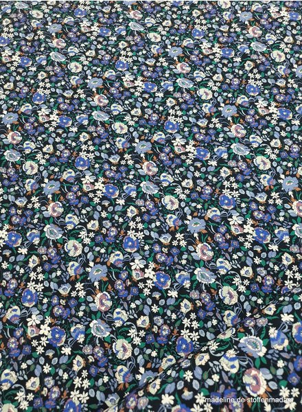small flowers cobalt - viscose