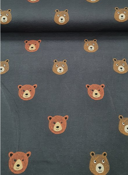 bears - dark grey - french terry