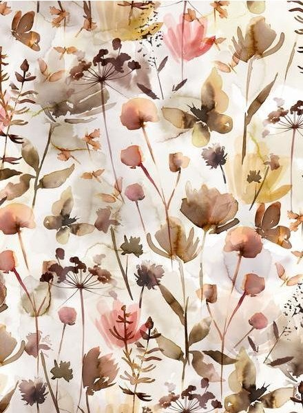 Family Fabrics wild flower - jersey