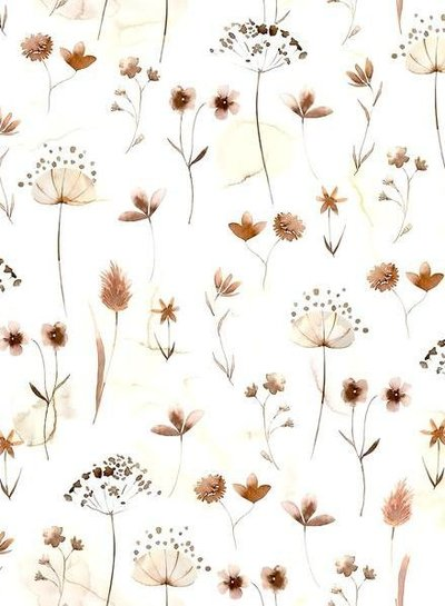 Family Fabrics pressed flowers - tricot