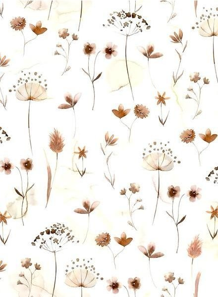Family Fabrics pressed flowers - jersey