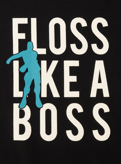 Floss like a boss - paneel van 90 cm op french terry