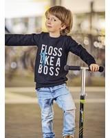 Floss like a boss - paneel van 90 cm op french terry