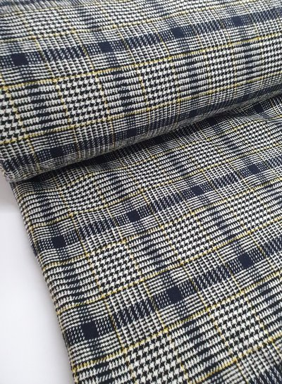 checks with teddy lining - coat fabric