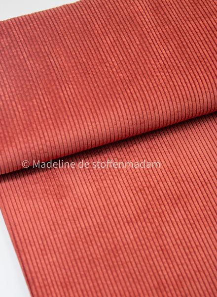 marsala - corduroy - ribfluweel met brede ribbel