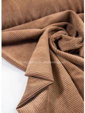 bruin - corduroy - ribfluweel met brede ribbel