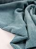 dusty mint - corduroy - ribfluweel met brede ribbel