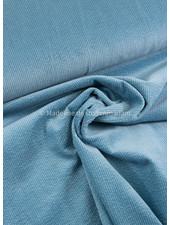 dolfijnblauw - corduroy - ribfluweel met brede ribbel
