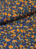 Fibremood autumn flowers - beautiful blue and camel - viscose