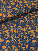 Fibremood herfstbladeren blauw/camel - viscose