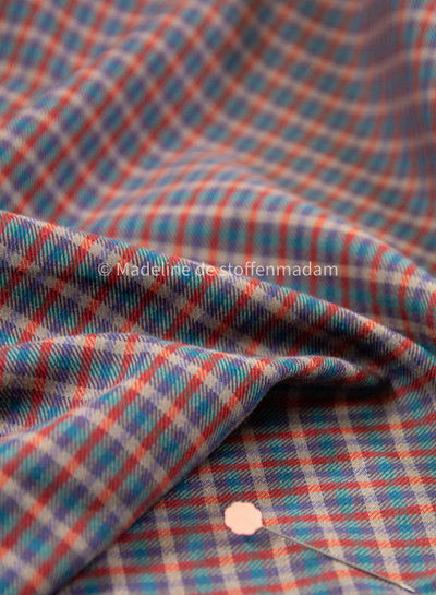Fibremood checks - cotton viscose twill