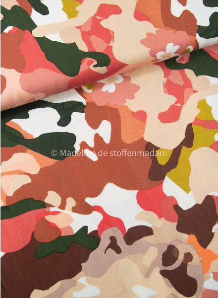 Milliblus color camouflage - viscose twill