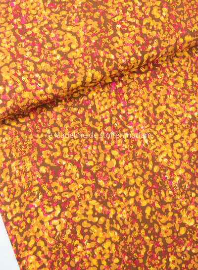 ocre and pink spots - viscose