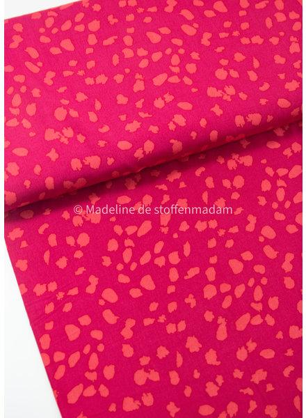 Pink spots - viscose