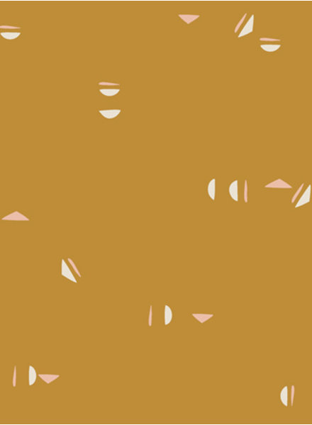 ART GALLERY FABRICS Stenciled Sun Yardage - katoen