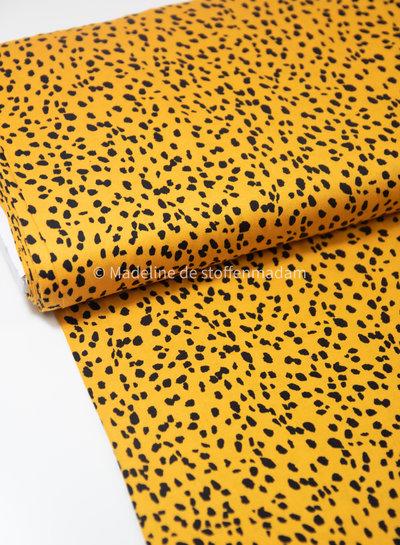 black and yellow spots- viscose