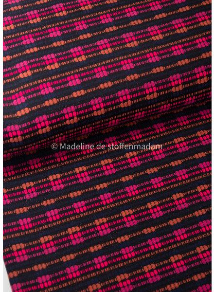 neon roze en lila -zachte geweven katoen blend