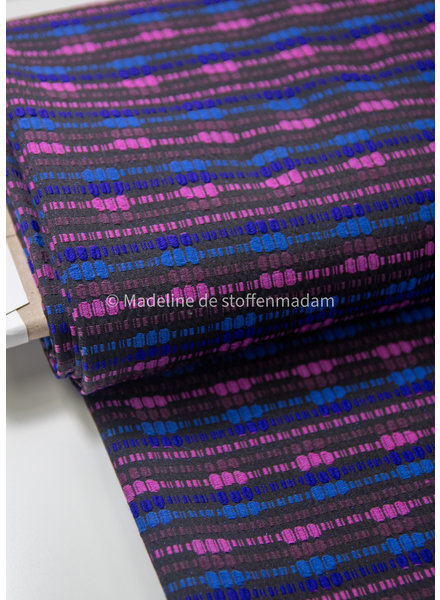 purple and kobalt - soft woven cotton