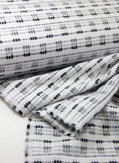 black and white - soft woven coton