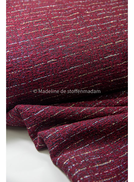burgundy with lurex - woven jacquard