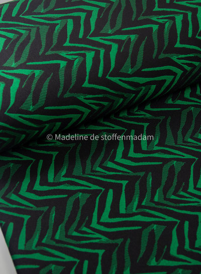 green print - woven jacquard with stretch