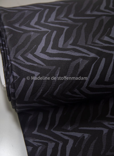 grey print - woven jacquard with stretch