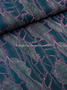 petrol en lila monstera leaves - cotton blend deluxe