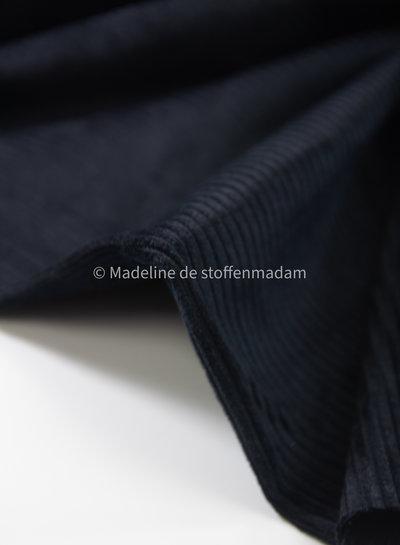 zwart - corduroy - ribfluweel met brede ribbel