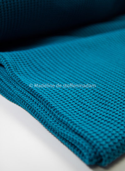 knitted sweater petrol