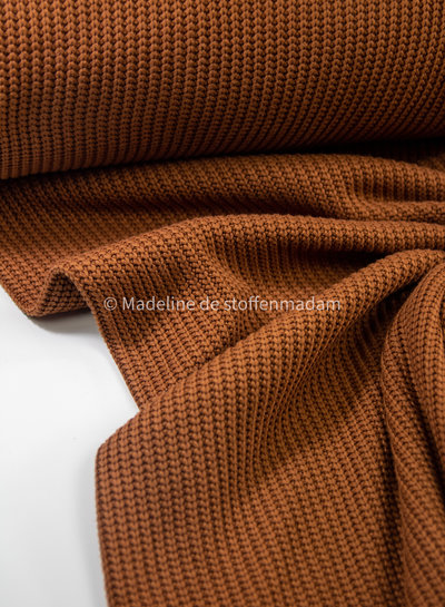 knitted sweater cognac