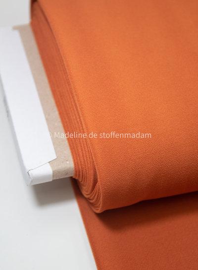 Editex madarijn rekbare stof - crepe structuur - capsule collection Bel'Etoile