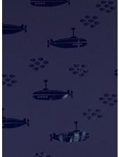 submarine - marineblauw regenjasstof PUL