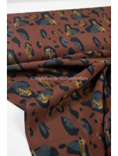 rust classic animal print - viscose