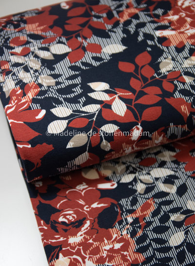 Swafing red flowers - sweater