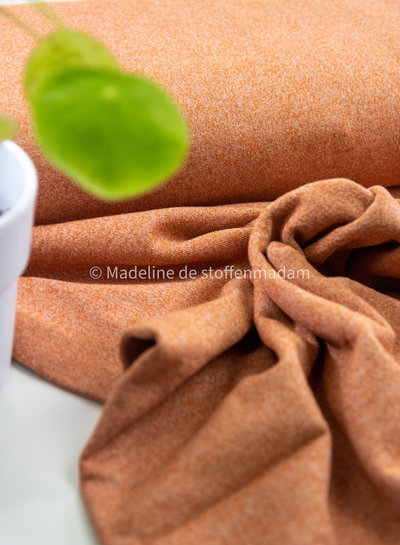 abrikoos spikkel french terry