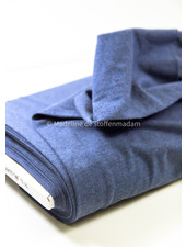 denimblauw -  effen French Terry Recycled